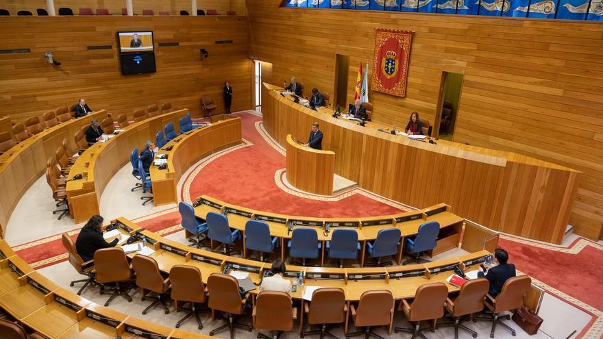Comparecencia de Feijóo ante la Comisión Permanente del Parlamento.