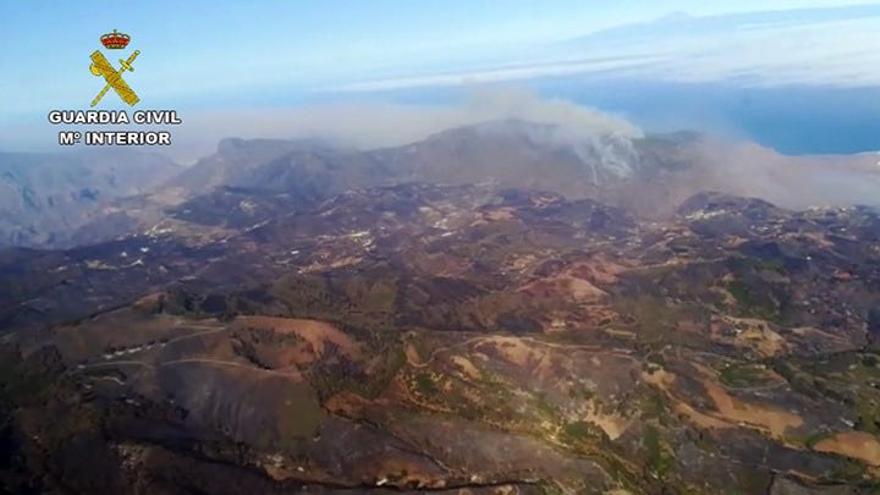 El incendio que afecta a Gran Canaria.