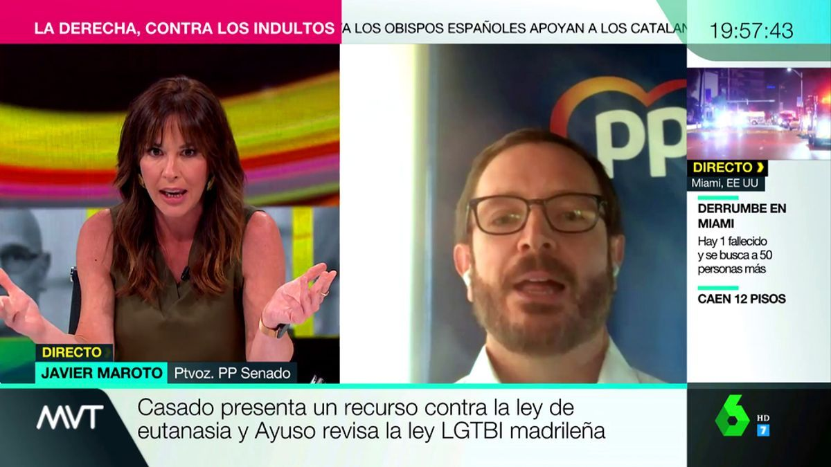 Mamen Mendizabal y Javier Maroto, en 'Más vale tarde'