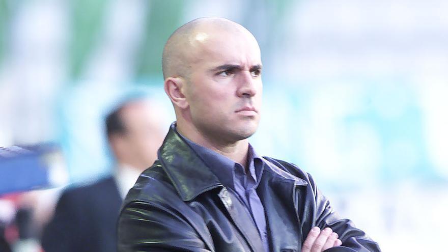 Luis César Sampedro, durante el Racing Ferrol-CD Tenerife de la temporada 00-01