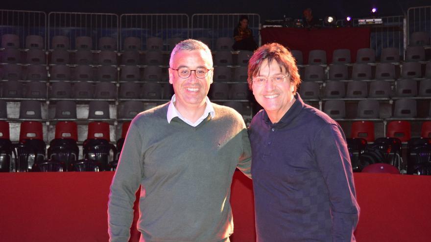Sergio Matos y Rody Aragón este viernes.