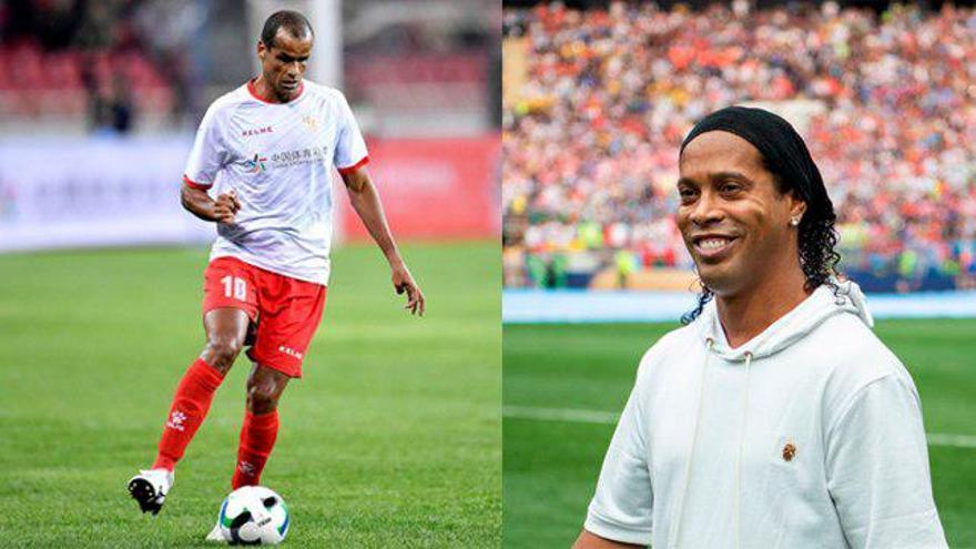 Rivaldo y Ronaldinho, en dos imágenes recientes / EFE