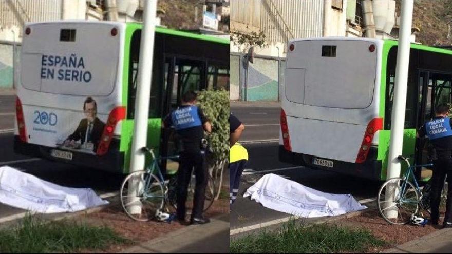 A la izquierda, fotografía original; a la derecha,la foto que 'El Día' trucó para evitar que la gente piense que Rajoy es un gafe..