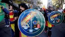 Manifestación de Jusapol en Barcelona.