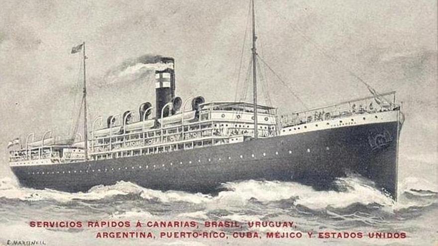 Imagen del 'Valbanera' de la naviera Pinillos, una auténtica proeza técnica para la época.