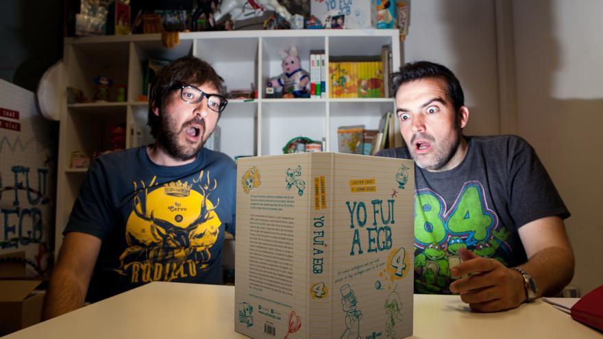 Javier Ikaz y Jorge Díaz, autores de `Yo fui a EGB´