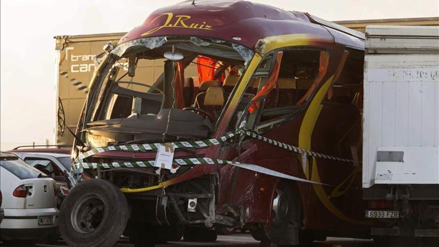 Se reducen a cuatro los ingresados en la UCI por el accidente del autobús en Murcia