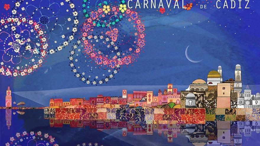 Imagen del cartel oficial del Carnaval de Cádiz de 2017.