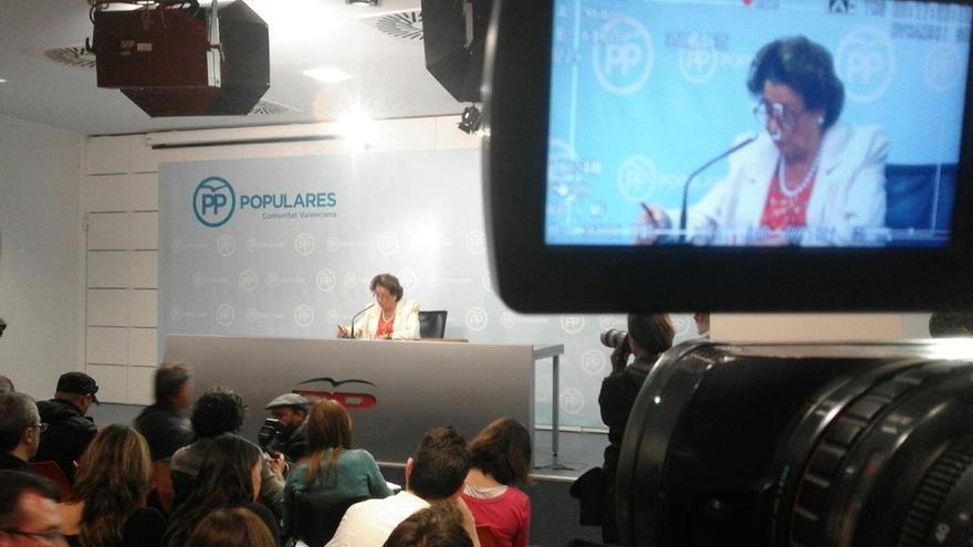"""Barberá da las gracias a su """"buen amigo"""" Mariano Rajoy, Cospedal, Rafael Catalá y Camps"""