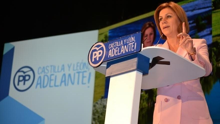 """PPCyL-De Cospedal apunta a Valladolid como parte del ADN del PP a pesar de """"sufrir el embiste de un pacto de perdedores"""""""