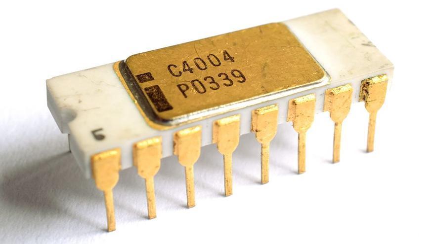 El Intel 4004 es considerado el primer microprocesador de la historia