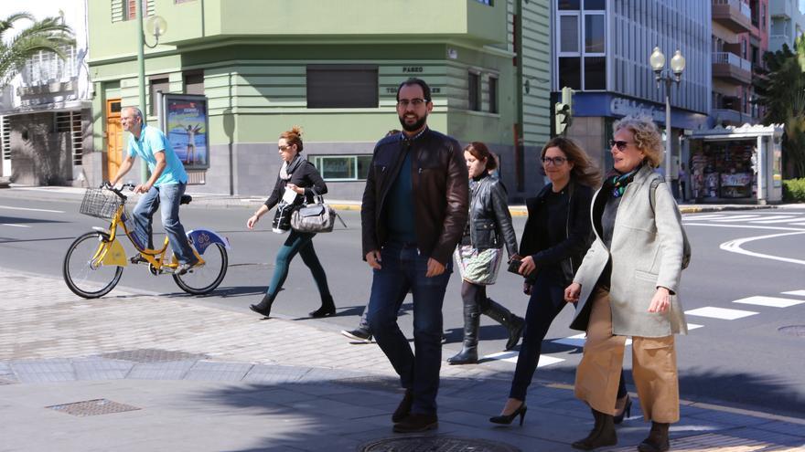 Los consejeros de Podemos en el Cabildo de Gran Canaria Miguel Montero, Ylenia Pulido y María Nebot.