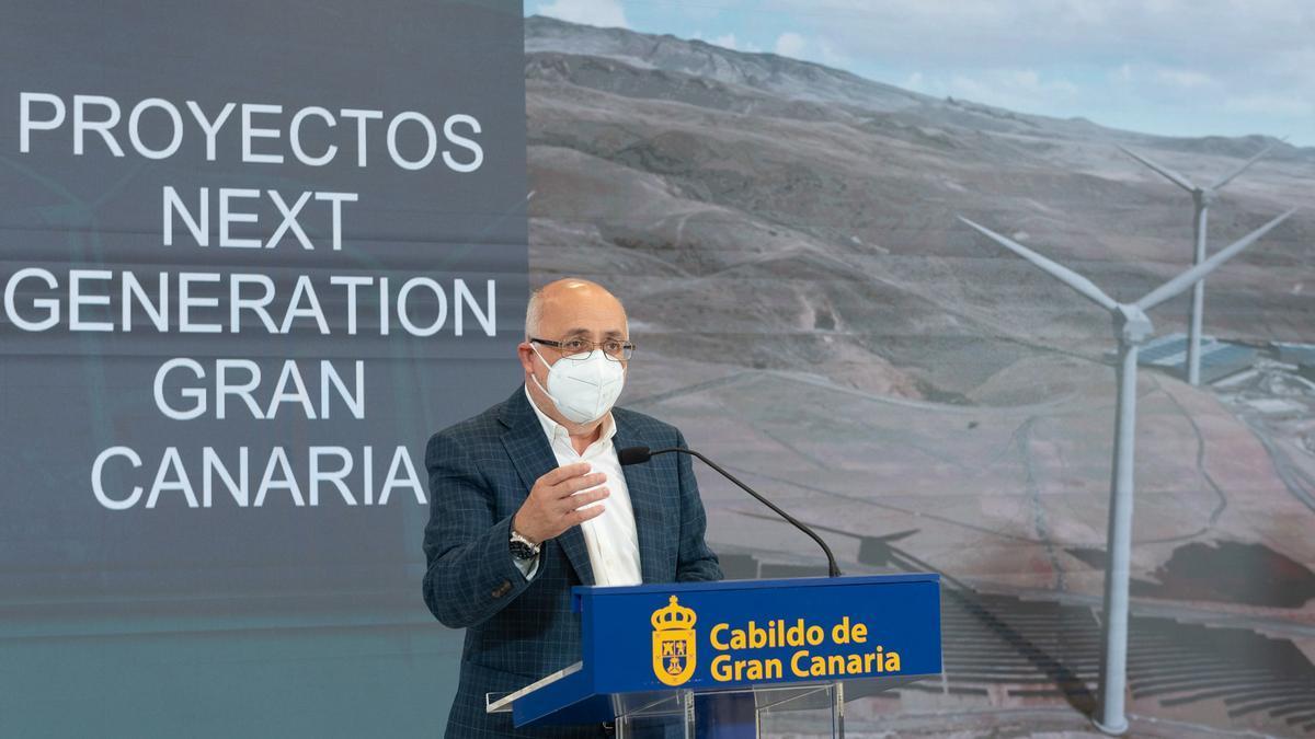 El presidente del Cabildo de Gran Canaria, Antonio Morales, presenta los proyectos Next Generation de Gran Canaria.