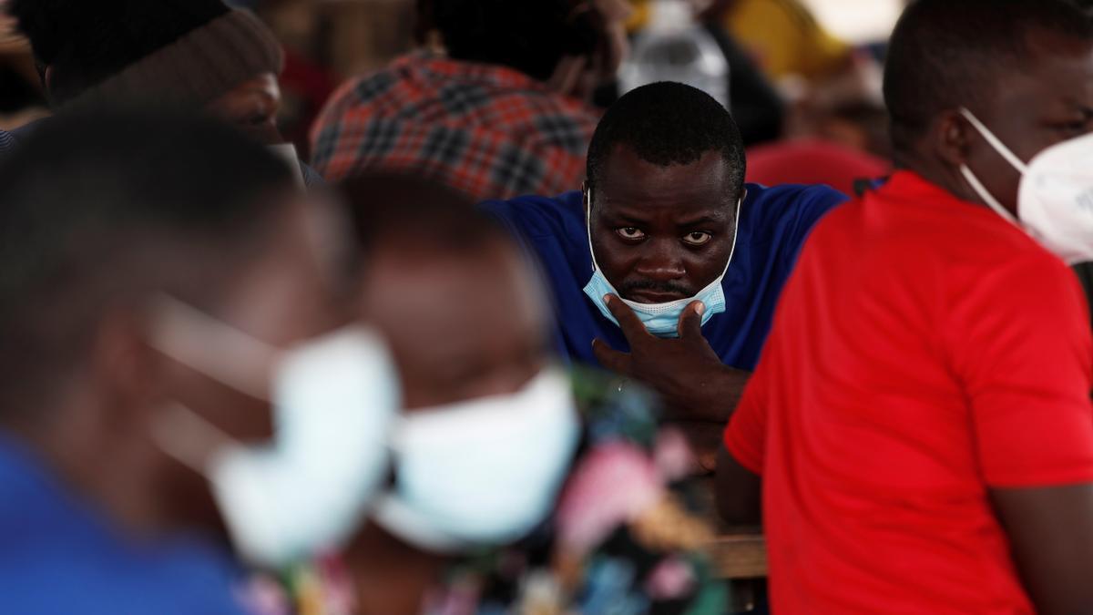 Migrantes haitianos en el albergue de San Vicente, Panamá, en tránsito hacia Estados Unidos