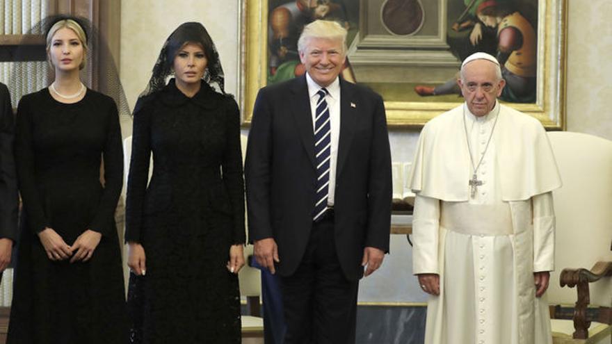Donald Trump y el papa Francisco, en el Vaticano