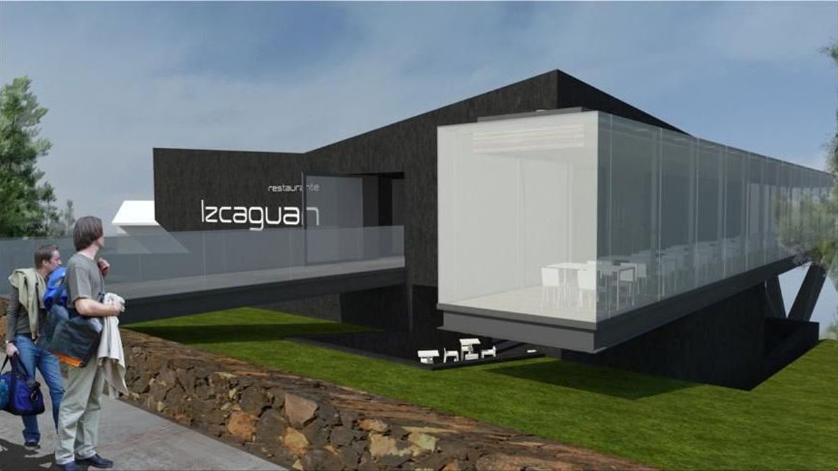 Recreación del futuro restaurante Izcagua, en el municipio de Puntagorda.