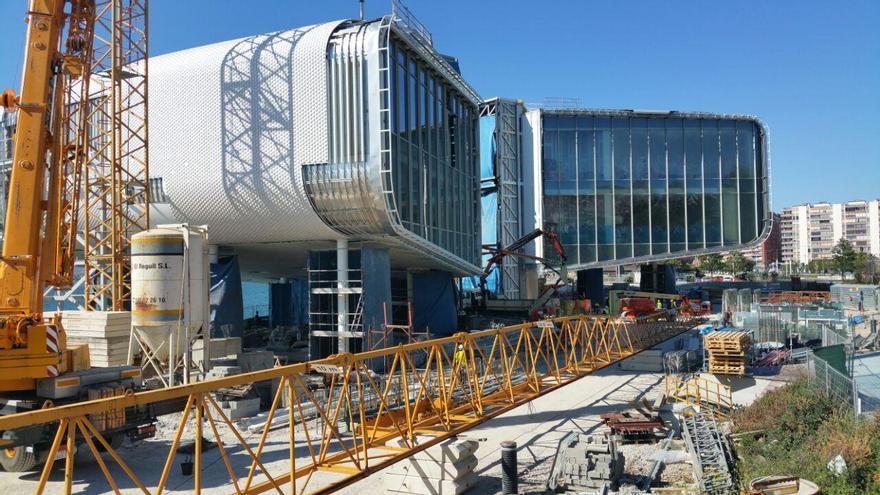Imagen de las obras de construcción del Centro de Arte Botín en Santander. | LARO GARCÍA