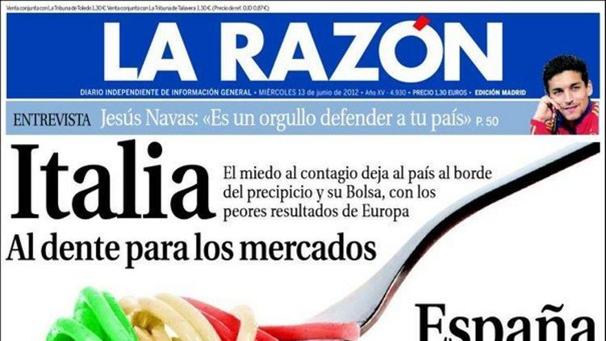 De las portadas del día (13/06/2012) #9