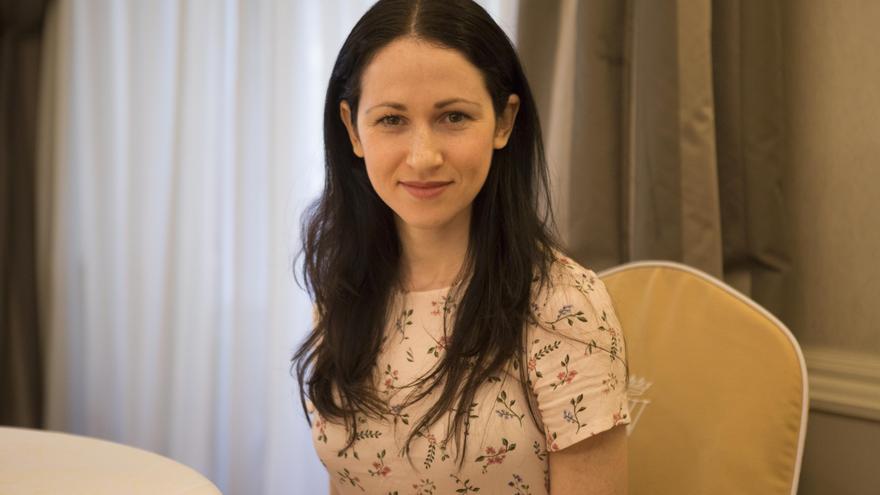 Orit Kopel, cofundadora de Wikitribune, durante la entrevista con eldiario.es. Clara Bellés.