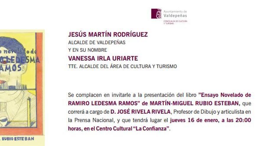 Invitación del Ayuntamiento de Valdepeñas