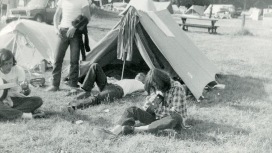 Wyoming en un camping de Helsinki, en 1973.