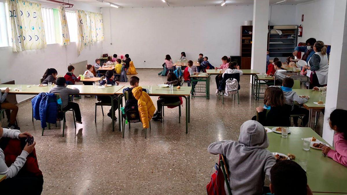 Un comedor escolar en un colegio de Córdoba.