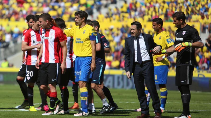 El último de partido de Juan Carlos Valerón en el Estadio de Gran Canaria. (Alejandro Ramos).