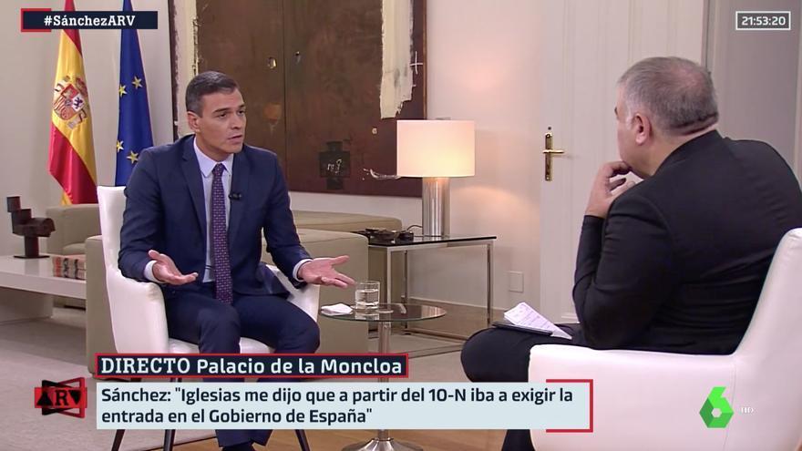 Pedro Sánchez, en la entrevista de La Sexta.