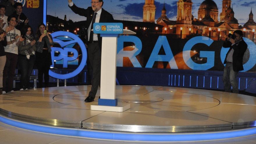 """Rajoy ataca en Zaragoza a Ciudadanos por querer suprimir el Senado y """"liquidar los pueblos"""""""