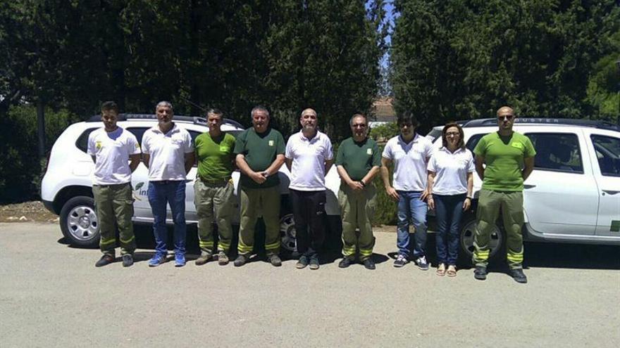 Bomberos y agentes medioambientales recuerdan a los fallecidos en Guadalajara