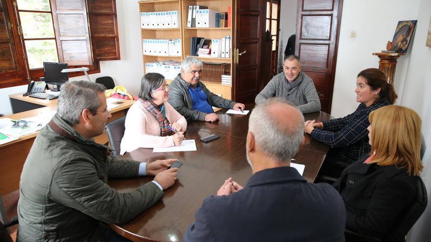 Reunión de la junta de portavoces de Firgas, presidida por Alexis Henríquez (PSOE)
