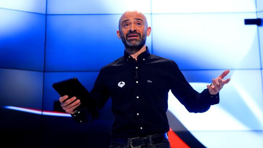 Antonio Lobato, en la presentación de la Fórmula 1 de Atresmedia en 2015