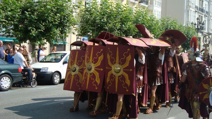 Las Guerras Cántabras son fiestas de interés nacional y conmemoran las batallas sucedidas hace más de 2000 años.   DAVID CASADO/ FLICKR
