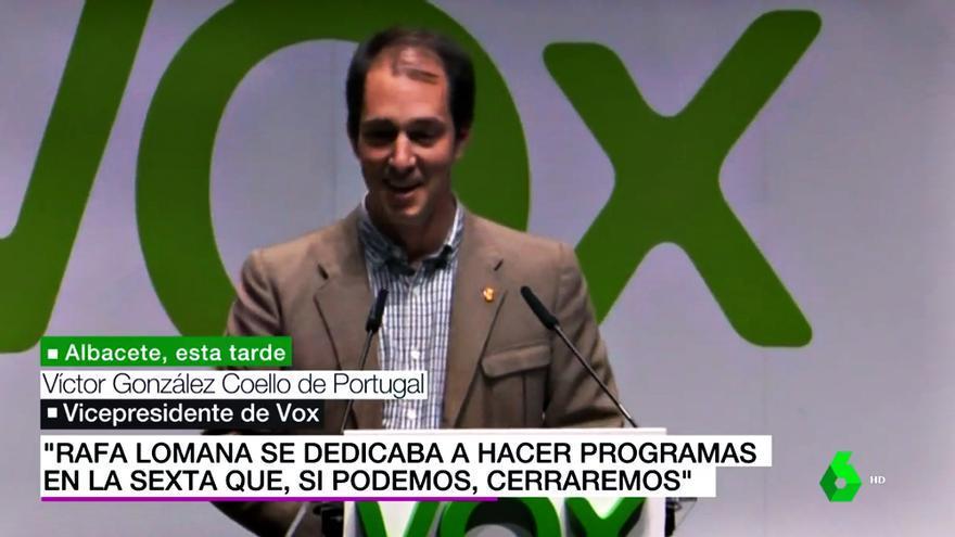 El vicepresidente de Vox Víctor González Coello