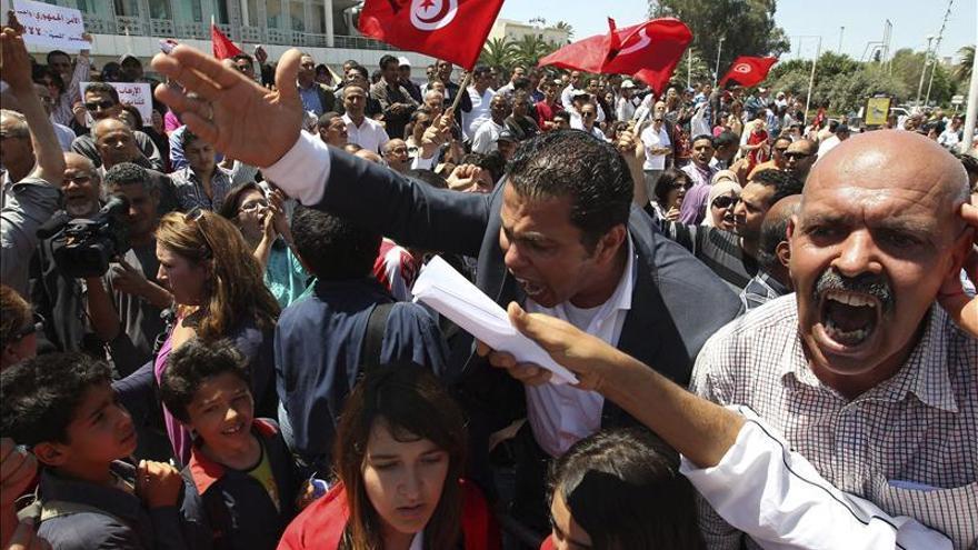 Manifestaciones de los salafistas contra el Gobierno en Túnez