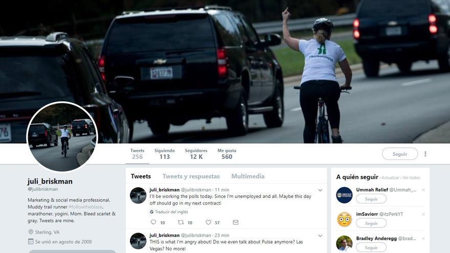 Imagen del perfil de Twitter de Juli Briskman.