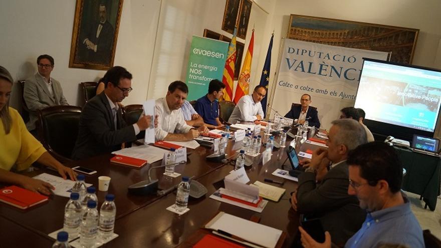 Imatge de l'acte realitzat a la Diputació de València