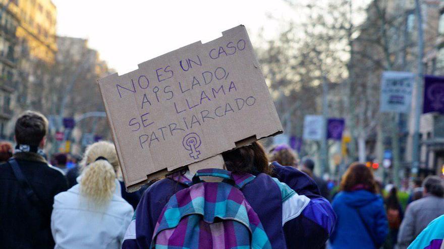 Manifestación del 8M en Gran Via de Barcelona