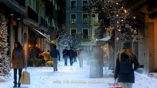 Fotograma del anuncio rodado en la calle Pérez Galdós