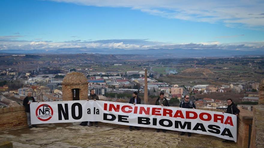 Protesta contra la planta de biomasa en Monzón