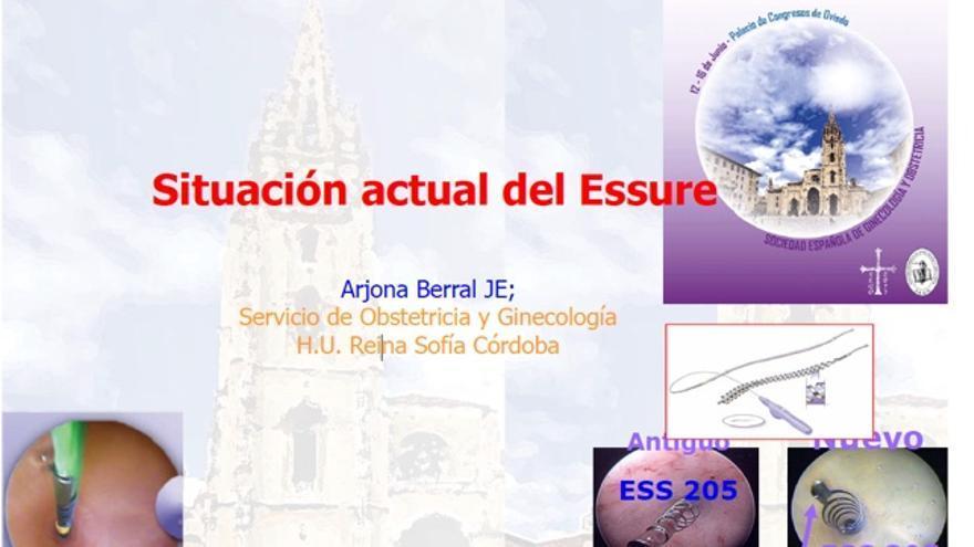 Portada de la ponencia del docto José Eduardo Arjona.