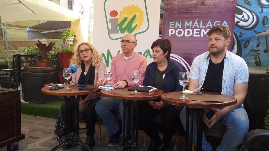 De izquierda a derecha, Ramos, Zorrilla, Macías y Sguiglia, en la presentación de Adelante Málaga | N.C.