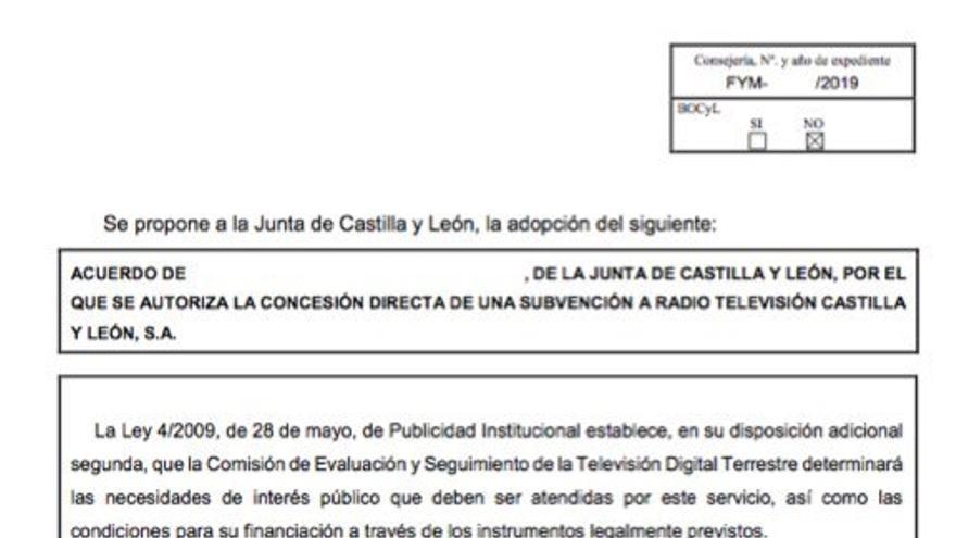 Subvención directa a Televisión Castilla y León