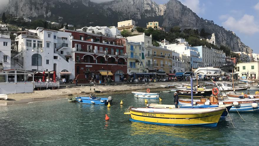 La Marina de Capri, punto de llegada a la isla. Greger Ravik (CC)