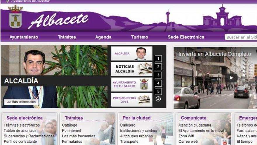 Web del Ayuntamiento de Albacete