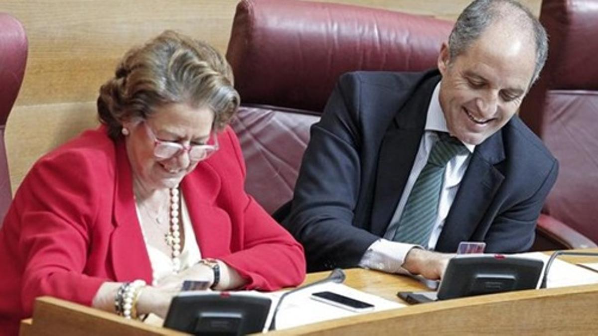 Francisco Camps y Rita Barberá.