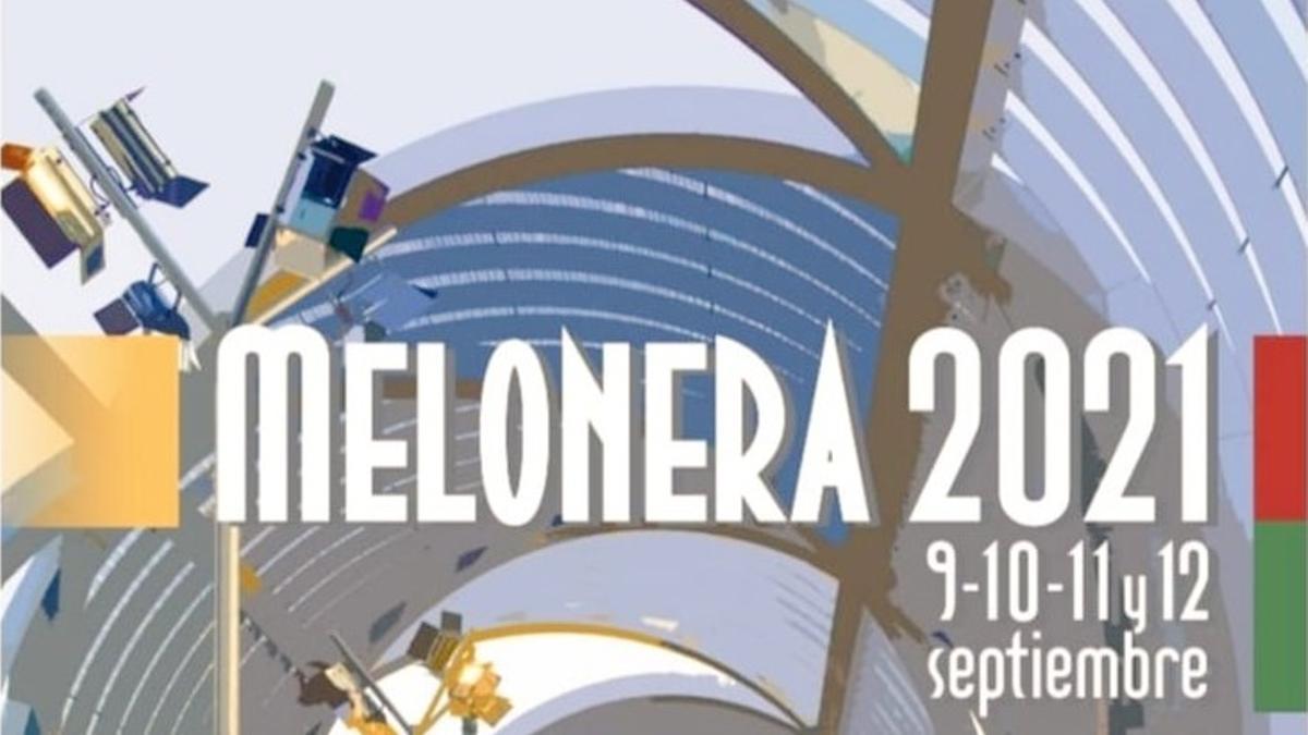 Detalle del cartel de las Fiestas de la Melonera 2021