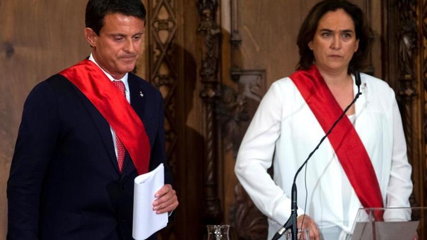 """Valls celebra haber evitado un alcalde independentista: """"Hemos hecho historia"""""""