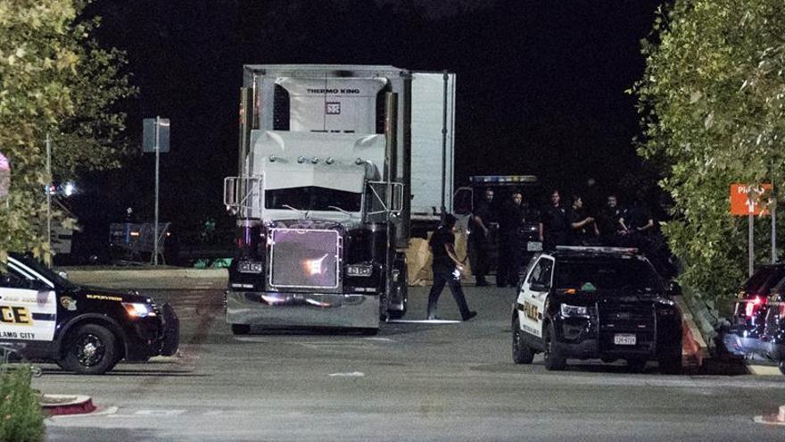 El camión relacionado con el suceso