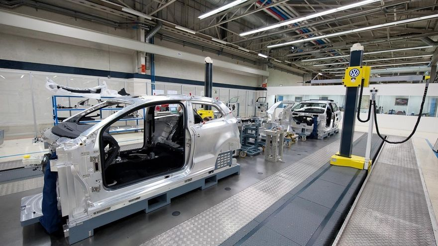 Fábrica de Volkswagen en Landaben (Navarra). Foto: Europa Press